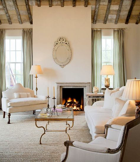 Beau Fireplace U0026 Seating Area Lynnstone Estate In Jackson, Mississippi. Interior  Designer Annelle Primos Of Jackson. Architect Kevin Harris Of Baton Rouge.  Image ...