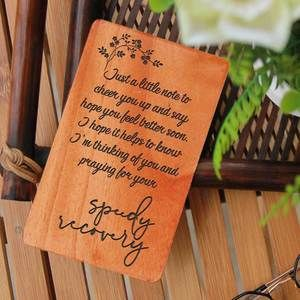 Get Well Soon Card: Set Of Personalized Wooden Cards