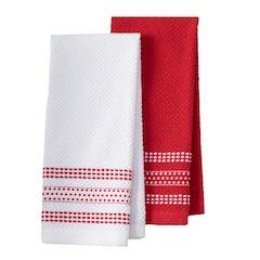 Farberware Dobby Dots Kitchen Towel 2 Pk Kitchen Towels Towel