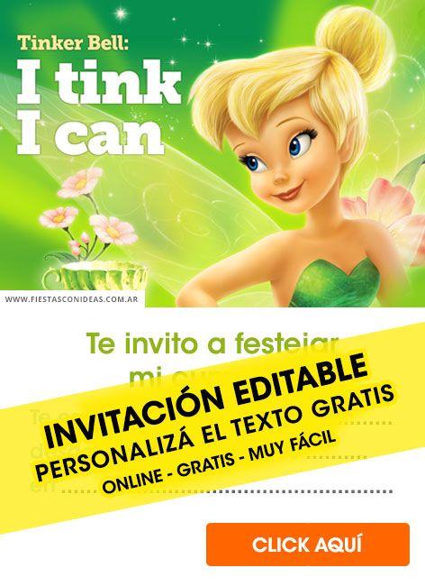 Pin De Patricia Vera En Tinker Bell Tarjeta De Cumpleaños