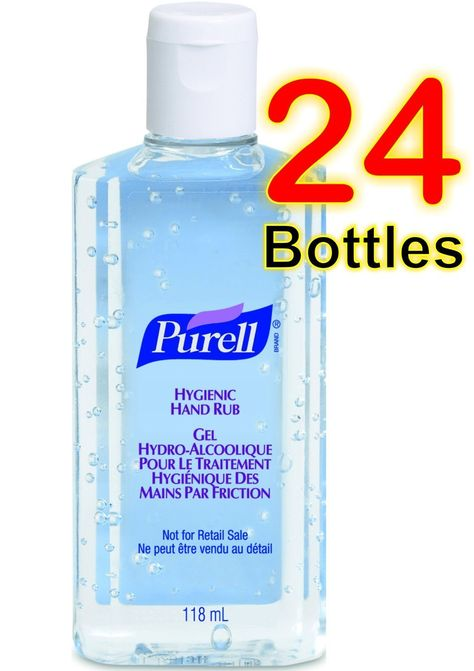 24 X Purell Hygenic Hand Sanitizer Gel Rub 118ml 4oz Personal