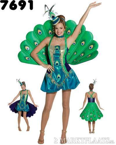 Marktplaats.nl > Prachtig PAUWEN kostuum! - Kleding   Dames - Carnavalskleding en Feestkleding