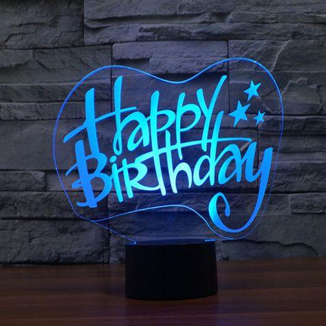 Happy Birthday Night light