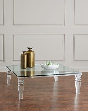Interlude Home Christelle Large Acrylic Coffee Table Acrylic Coffee Table Handcrafted Coffee Table Coffee Table