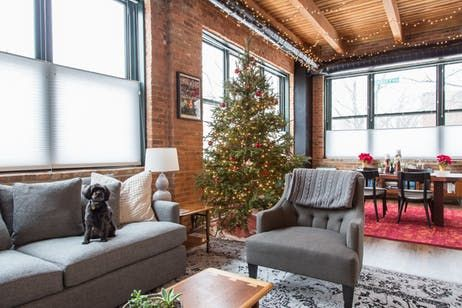 The story of the first electric lit christmas tree warm industrial chicago lofts and apartment therapy