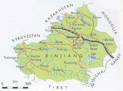 Map Xinjiang.Map Of Xinjiang Places I Would Like To Visit Urumqi Tourist