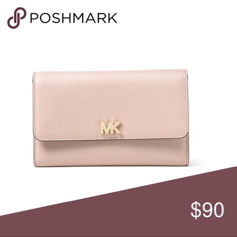 dda136c39060 🌹🌸Michael Kors Medium Wallet Leather Soft Pink 100% Authentic Michael  Kors Wallet Soft Pink Leather Flap top with snap closure Logo charm detail  on flap ...