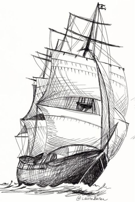 27 Boat Pencil Drawing Ideas