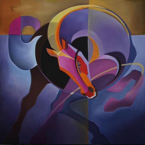 "Saatchi Online Artist: Trilochan Anand; Oil 2012 Painting ""horse -6"""