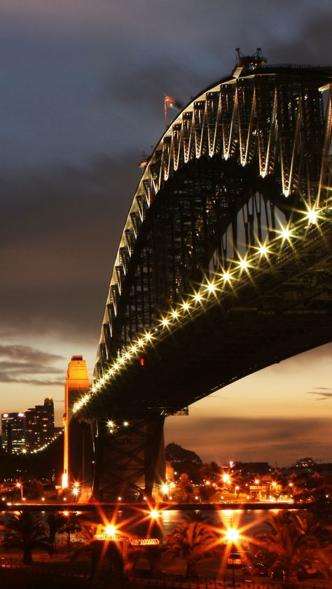 Sydney Harbour Bridge Night Lights Nsw City Pinterest And