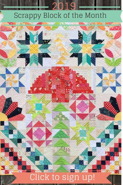Quilt Block Of The Month Club Com.Fresh Scrappy Block Of The Month Club 2019 Pdf Quilts