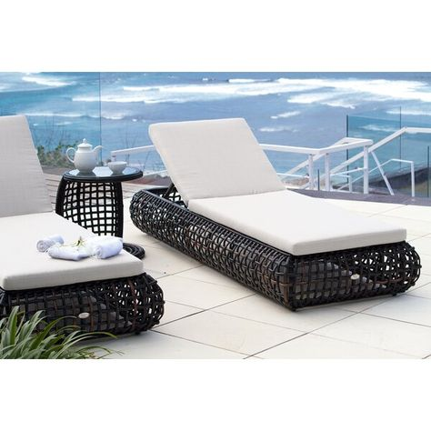 Dynasty Chaise Lounge With Cushion And Table In 2020 Chaise Lounger Chaise Lounge Skyline Design