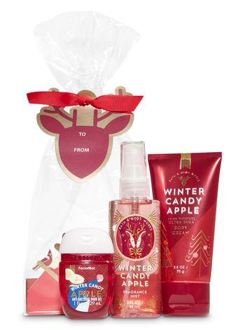 Winter Candy Apple Holiday Traditions Mini Gift Set Bath And