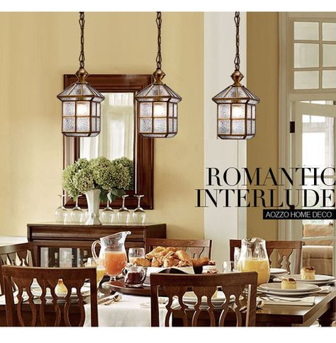 Country Copper House Pendant Light Hallway Gallery Dining Room Ceiling Fixtures