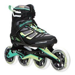 Rollerblade Macroblade 100 Womens Inline Skates Black Light Green Womens Inline Skates Roller Skate Shoes Rollerblade