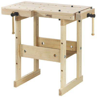 Sjobergs Hobby Plus 19 W Wood Top Workbench Size 32 H X Mit Bildern Holzbank Holzarbeitstisch Holzbearbeitung Werkbank