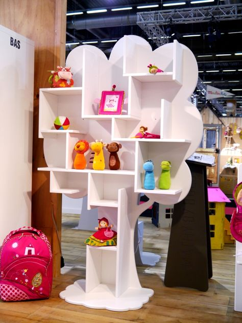 Lacquered MDF kids bookcase LOUANE By Mathy by Bols design Christophe Boulin