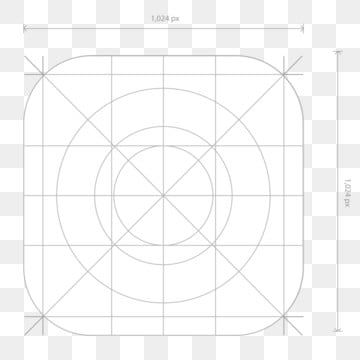 Vector App Icon Dimensions Development Grid Line App Icon Template Png And Vector With Transparent Background For Free Download App Icon Glyph Icon Free Vector Graphics