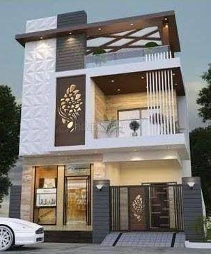 Best 60 Modern House Front Facade Design Exterior Wall