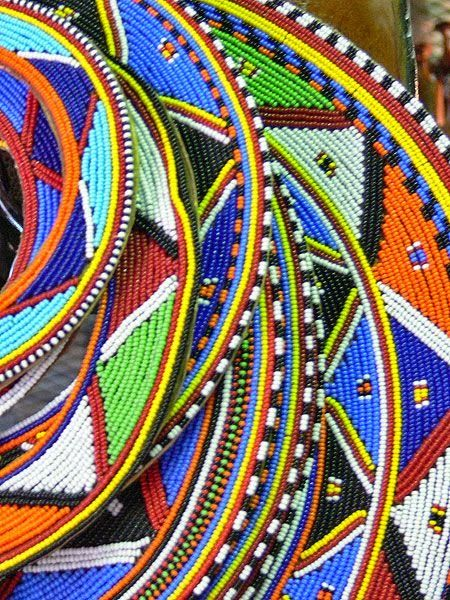 a selection of Zulu beadwork and woven patterns. They use bright colour combinations and geometric designs. I want to create s.