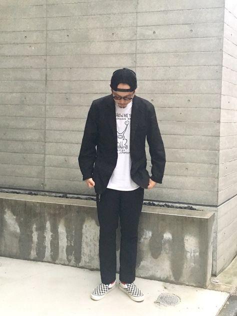 STABILIZER GNZのホップサックのセットアップに ダニエルジョンストン プリントのTシャツ