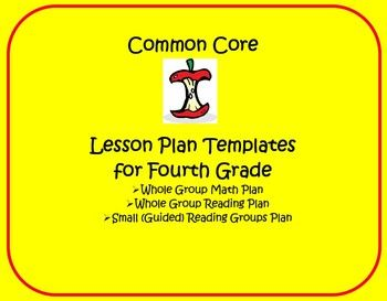 Th Grade Guided Reading Lesson Plan Template Editable Common