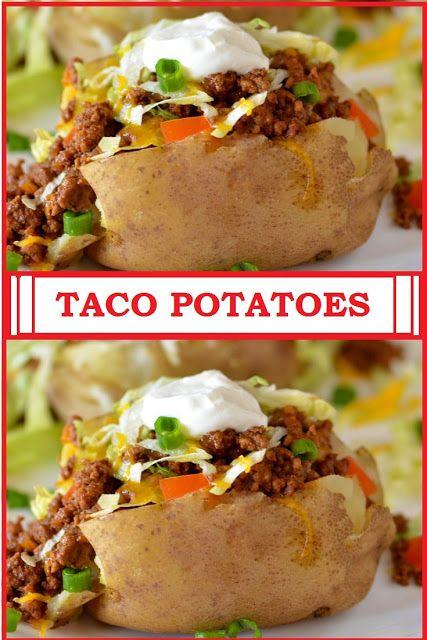 Healthy Taco Potatoes Healthy Tacos Fun Easy Recipes Potato Recipes