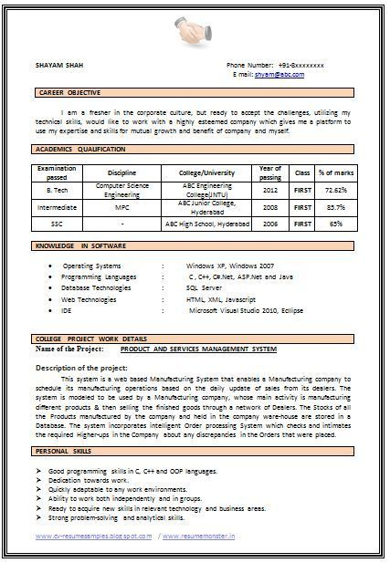 25 Computer Tech Resume Sample Cover Letter Templates Resume Format For Freshers Resume Format Download Downloadable Resume Template