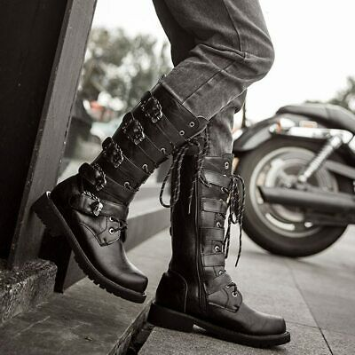 Skull Buckles Motorcycle Boots ORIGINAL QUALITY