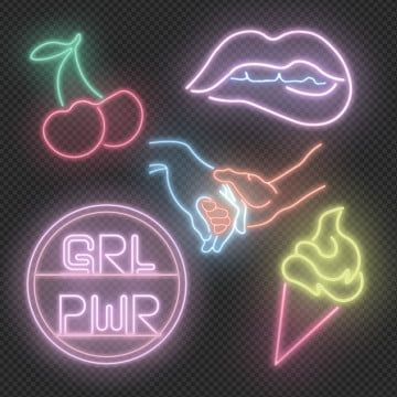 Girly Neon Signs Girl Neons Girl Power Png Transparent Clipart Image And Psd File For Free Download Neon Signs Neon Signs Quotes Neon Symbol