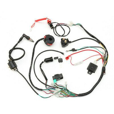 Details About Wiring Harness Solenoid Coil Cdi For Quad Atv 50cc