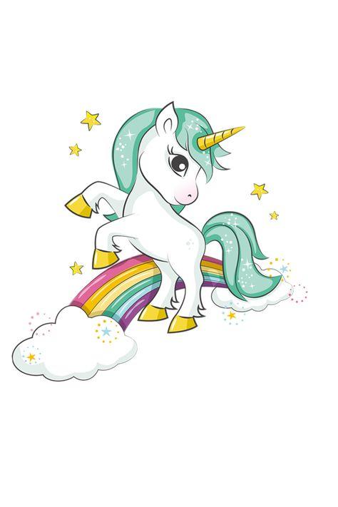 Iron-On Transfer Unicorn Rainbow Print On T-Shirt Clothes Decoration Diy Accessory Washable New Design Appliques Brand:Colife Size:22*19.5cm