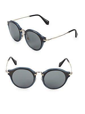 2757abe39872 Miu Miu Two-Tone 49MM Professor Sunglasses | benefit | Sunglasses ...