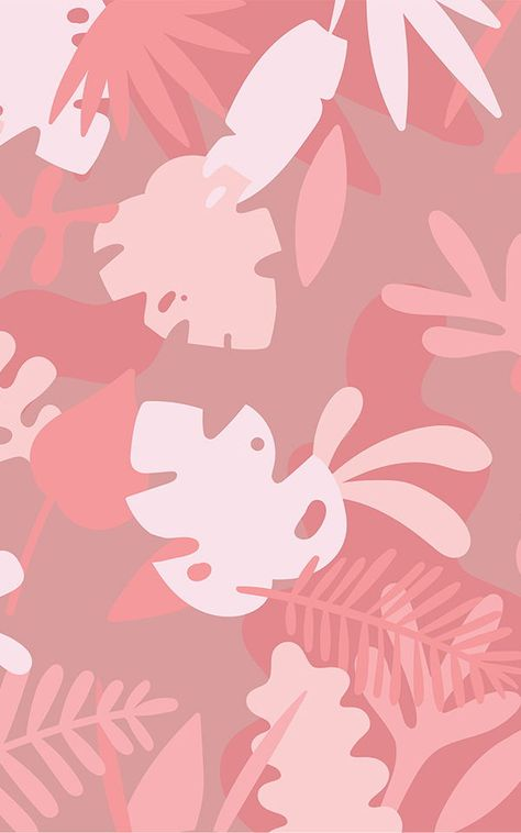 Welcome a fun tropical theme to your space with the Pink Tropical Jungle Leaf Wallpaper Mural, a cute cartoon leaf design. Pink Wallpaper Iphone, Iphone Background Wallpaper, Aesthetic Iphone Wallpaper, Aesthetic Wallpapers, Cartoon Leaf, Victoria Secret Wallpaper, Cute Patterns Wallpaper, Abstract Backgrounds, Vintage Backgrounds