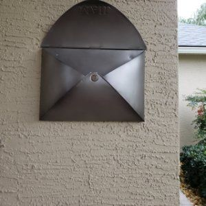 Envelope Mailbox With Images Metal Mailbox Wall Mount Mailbox