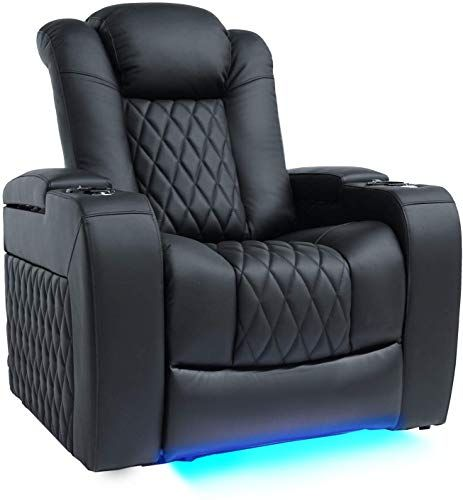 Best Seller Valencia Tuscany Top Grain Nappa Leather Power Reclining Power Lumbar Power Headrest Home Theater Seating Single Seat Black Online Perfectfur Home Theater Seating Home Theater Power Recliners