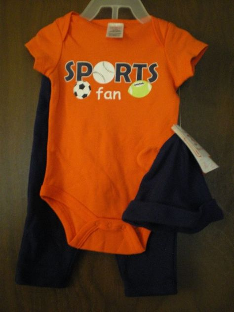 NEW Baby Boys 3 piece Outfit 0-3 Months Bodysuit Pants Hat Ears Set Basketball