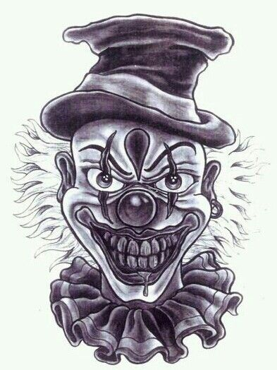 Pin De Pablorivas Em Diablo Tatuagem De Palhaco Palhacos 157