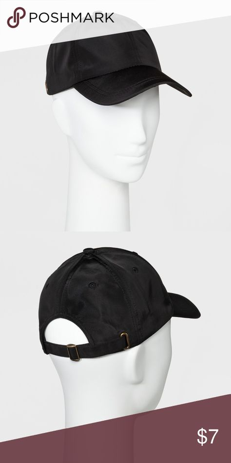 9a6be353aeb Women s Black Mossimo Baseball Hat New with tags Fit   style  Black baseball  hat with a slightly shiny finish Adjustable closure helps you find the  perfect ...