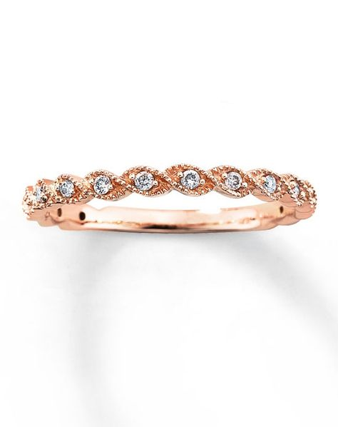 Diamond Fashion Band 14K Rose Gold Round 110ct tw531849103 by