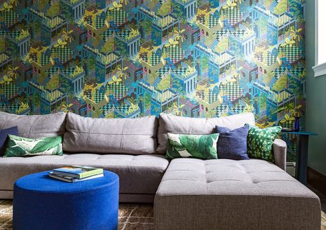 Lounge Around - A Designer's Home That Takes Wallpaper To The Next Level - Photos