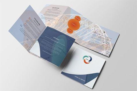 Modern Business Square Brochure a4 brochure templates psd a4 size - half fold brochure template