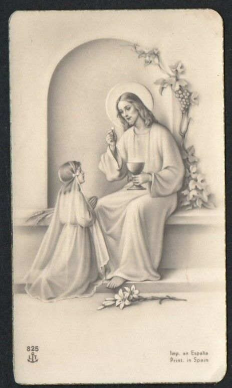 Holy card antique de Jesus andachtsbild estampa santino image pieuse