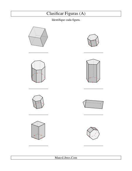 Clasificar Prismas Prismas Y Piramides Hojas De Ejercicios De