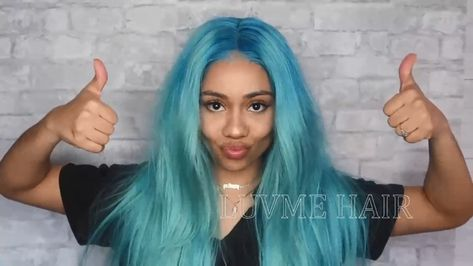 How to dye your hair sky blue?😍✨✨
