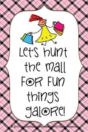 Recently I planned a birthday party for my 8 year old girl cousin. The birthday party was a mall scavenger hunt