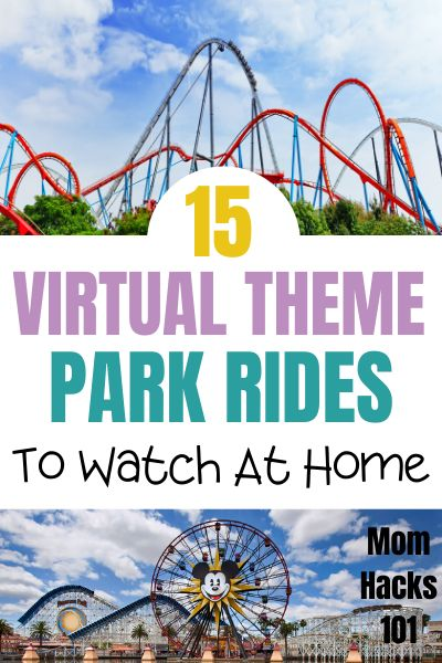 """Looking For At Home Kid's Activities? Here Are Fun ways to """"virtually"""" visit your favorite theme parks without the hefty price tag. Watch these virtual theme park rides to bring the magic into your home for FREE. Virtual Travel, Virtual Tour, Virtual Class, Educational Youtube Channels, Free Activities For Kids, Virtual Field Trips, Summer School, Health Education, Teaching"""