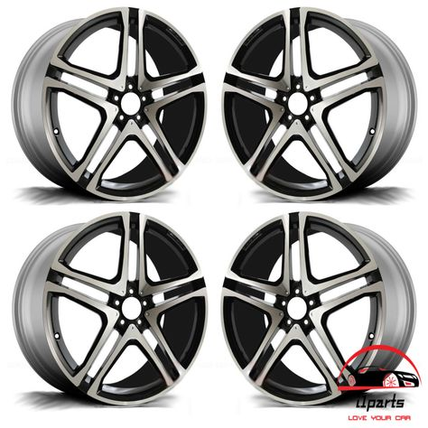 Set Of 4 Mercedes Gle Class 2016 2017 2018 22 Factory Oem Staggered Wheels Rims Rims Wheel Rims Wheel
