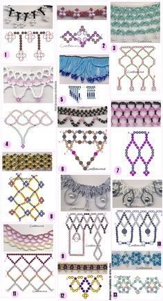 Seed bead jewelry Different chains of beads – two needle approach. ~ Seed Bead Tutorials Discovred by : Linda Linebaugh Different chains of beads - two needle approach. I think two needle approaches would do well to actually have a board to help hold th