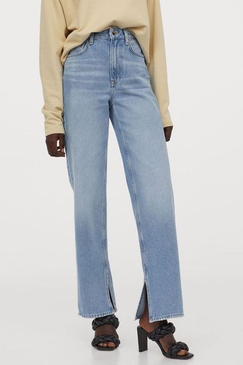 HM Straight High Jeans